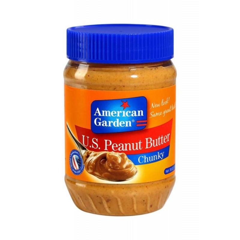 کره بادام زمینی امریکن گاردن مدل chunky