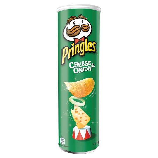 چیپس پرینگلز با طعم پنیر و پیاز