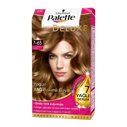 رنگ مو پالت مدل تافی طلا