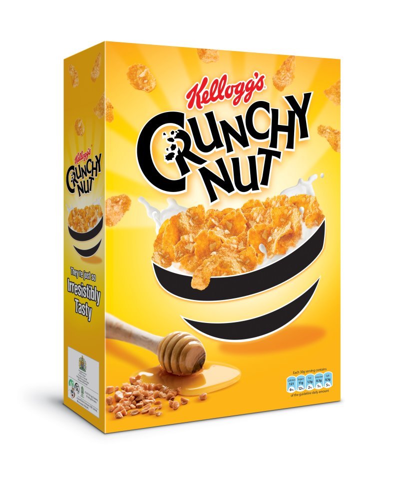کورن فلکس کرانچی بادام زمینی Kellogg's Crunchy Nut