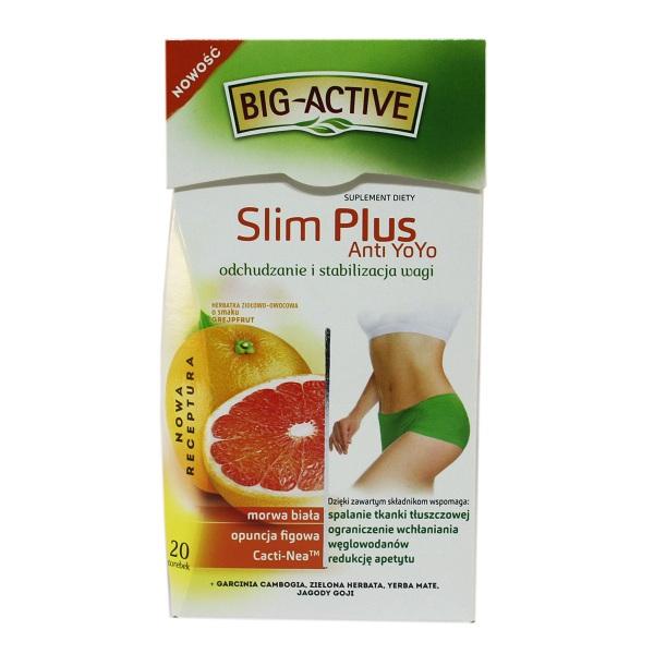 چای لاغری Big Active مدل slim plus