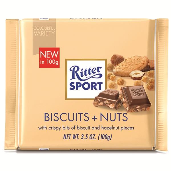شکلات RITTER SPORT مدل Keks + Nuss