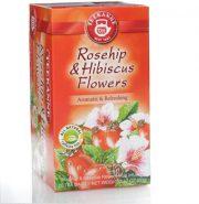دمنوش گیاهی چای ترش و گل سرخ تیکانه teekane