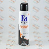 اسپری ضد تعریق فا Fa MEN مدل INVISIBLE POWER