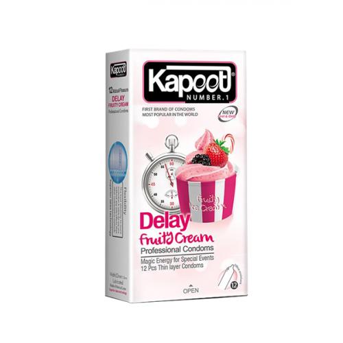 کاندوم تاخیری میوه ای Kapoot مدل Delay fruity cream