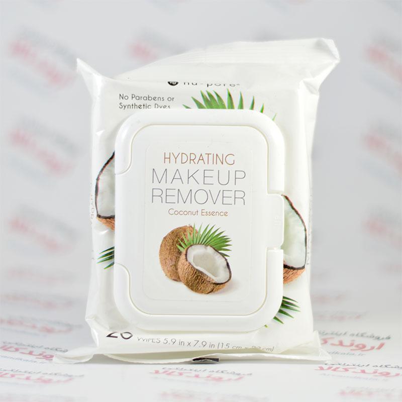 دستمال آبرسان پاک کننده آرایش Nu-Pore مدل Coconut
