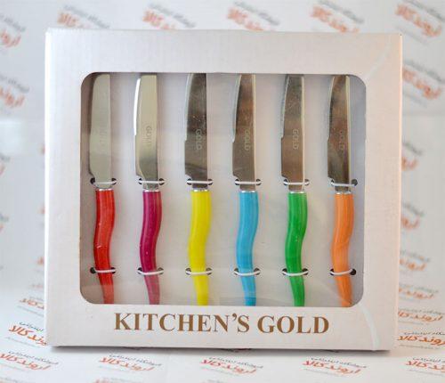 ست چاقوی میوه خوری KITCHEN's Golden