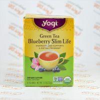 چای سبز لاغری یوگی Yogi مدل Blueberry
