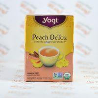 چای بدون کافئین سم زدایی یوگی yogi مدل Peach DeTox
