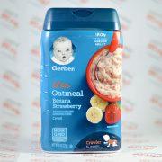 سرلاک گربر gerber مدل Oatmeal با طعم موز و توت فرنگی