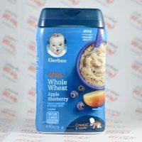 سرلاک گربر gerber مدل Whole Wheat با طعم سیب و بلوبری