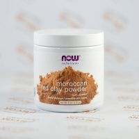 پودر پاکسازی صورت Nowfoods مدل Moroccan Red Clay Powder