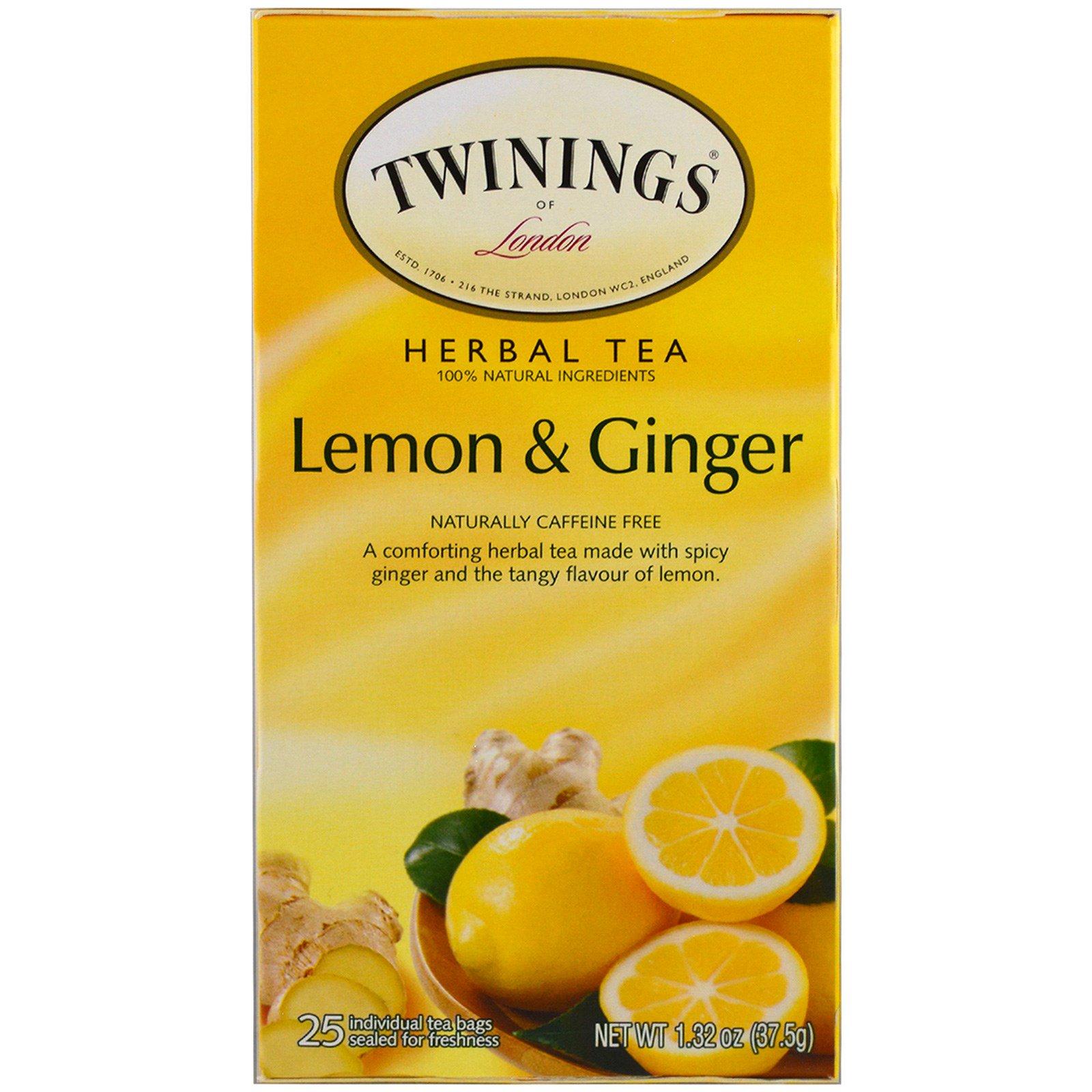 چای گیاهی توینینگز Twinings مدل Lemon & Ginger