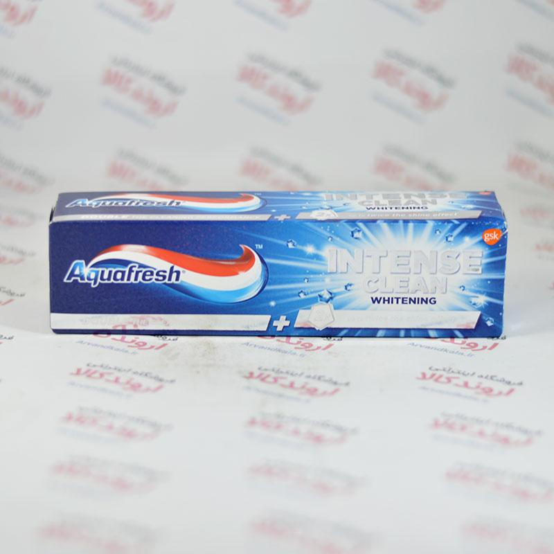 خمیر دندان سفید کننده آکوآفرش Aquafresh مدل INTENSE CLEAN