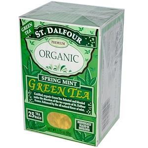 چای سبز ارگانیک St. Dalfour مدل Spring Mint Green Tea