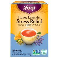 چای بدون کافئین آرامبخش یوگی Yogi مدل Honey Lavender
