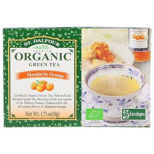 چای سبز ارگانیک St. Dalfour مدل Mandarin Orange