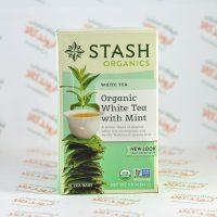 چای سفید ارگانیک استش stash مدل White Tea With Mint