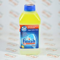 محلول ضد آهک و تمیزکننده ماشین ظرفشویی فینیش finish رایحه لیمو
