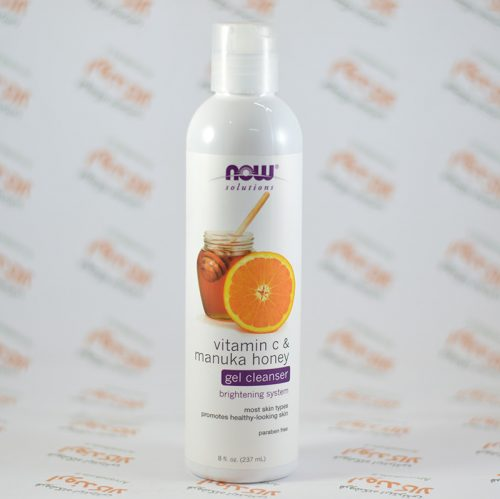ژل پاک کننده پوست Nowfoods مدل Vitamin C & Manuka Honey