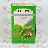 چای سبز نعنا فان تایم FUN TIME مدل MINT