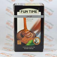 چای سیاه کارامل فان تایم FUN TIME مدل CARAMEL