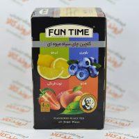 گلچین چای سیاه میوه ای فان تایم FUN TIME مدل LIMON BLUEBERRY STRAWBERRY PEACH