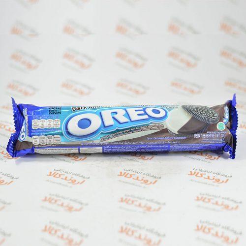 بیسکوئیت کرم دار اورئو OREO مدل دو رنگ Dark and White Chocolate