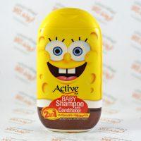 شامپو و نرم کننده موی کودک اکتیو ACTIVE طرح باب اسفنجی