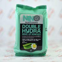دستمال پاک کننده آرایش نینو NINO مدل DOUBLE HYDRA