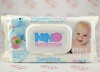 دستمال مرطوب نینو Nino مدل Nutritious