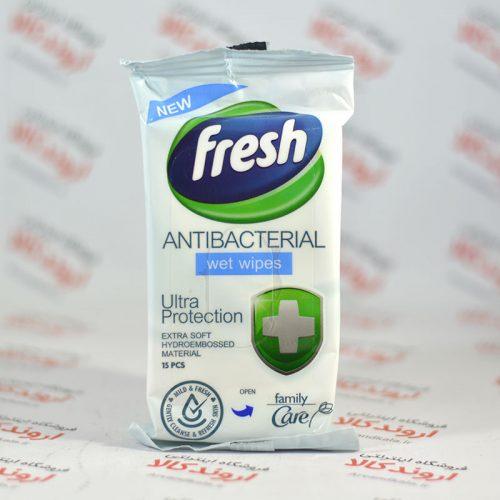 دستمال مرطوب آنتی باکتریال Fresh مدل Ultra protection