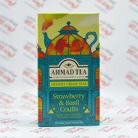 دمنوش چای سبز احمد Ahmad مدل Strawberry & Basil