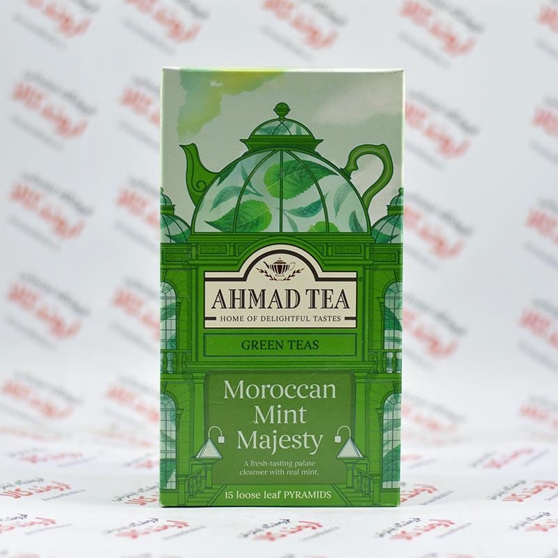 دمنوش چای سبز احمد Ahmad مدل Moroccan Mint