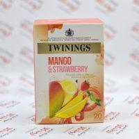 دمنوش توینینگز twinings مدل Mango & Strawberry