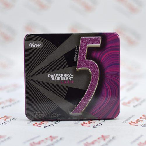 آدامس جعبه فلزی فایو Five5 مدل Raspberry+Blueberry Lush
