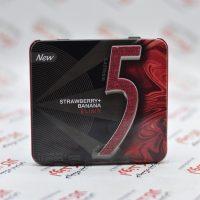 آدامس جعبه فلزی فایو Five5 مدل Strawberry+Banana Elixir
