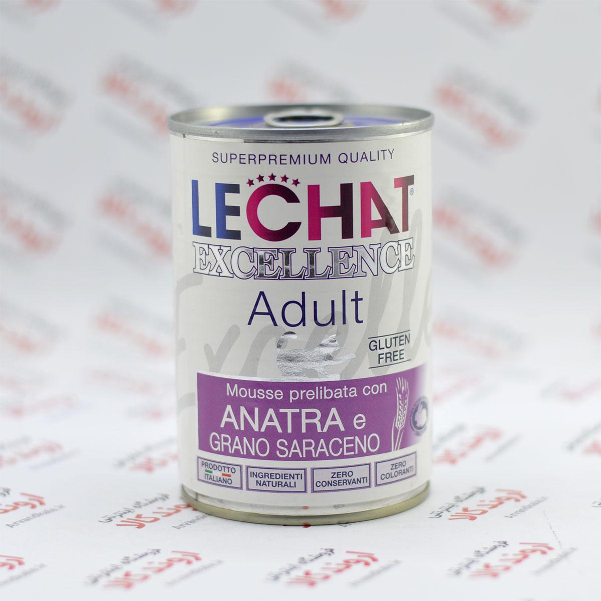 کنسرو غذای گربه لچت Lechat مدل Adult