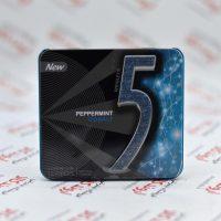 آدامس جعبه فلزی فایو Five5 مدل Peppermint Cobalt