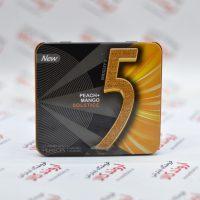 آدامس جعبه فلزی فایو Five5 مدل Peach & Mango