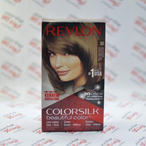 کیت رنگ مو رولون Revlon مدل Light Ash Brown 50