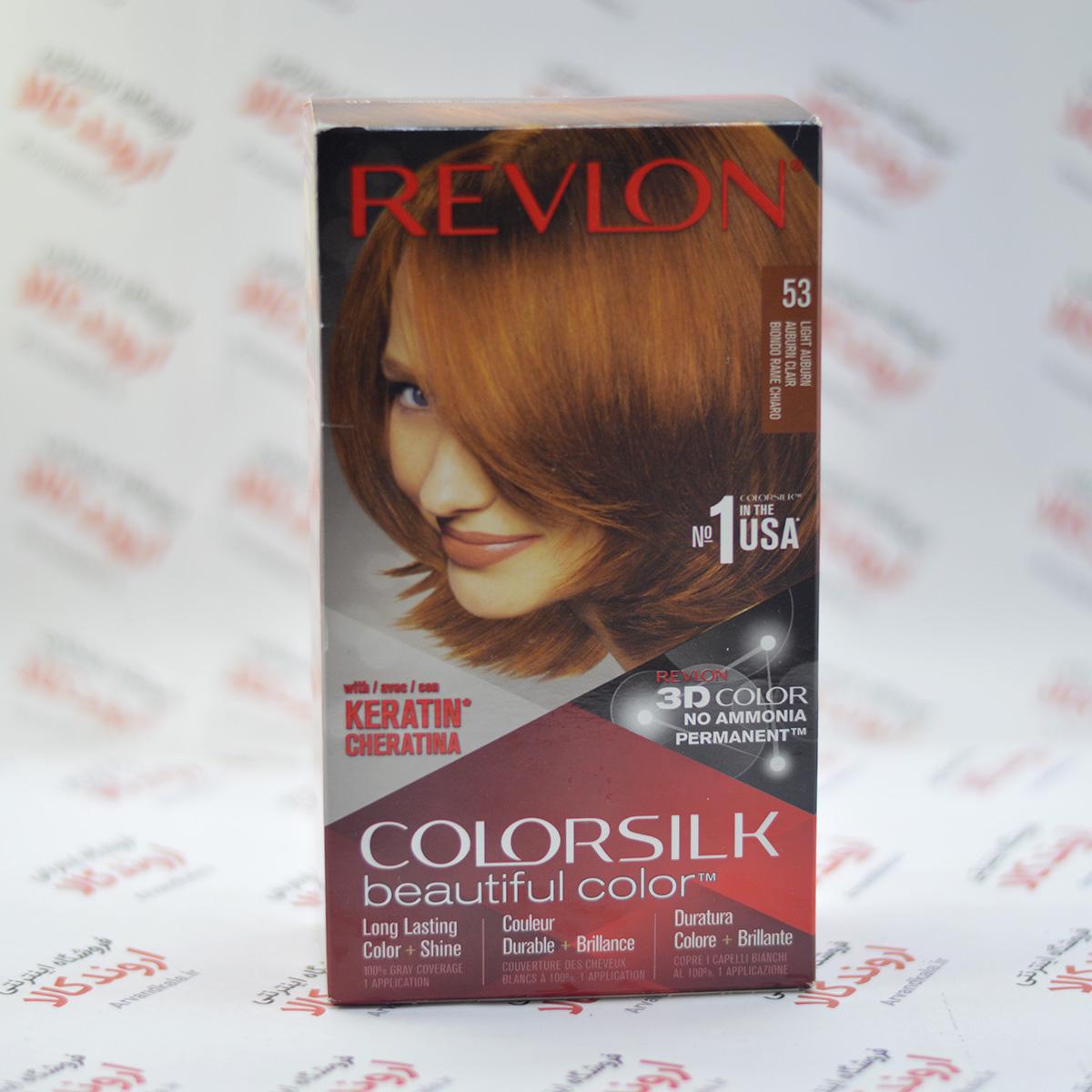 کیت رنگ مو رولون Revlon مدل Light Auburn 53