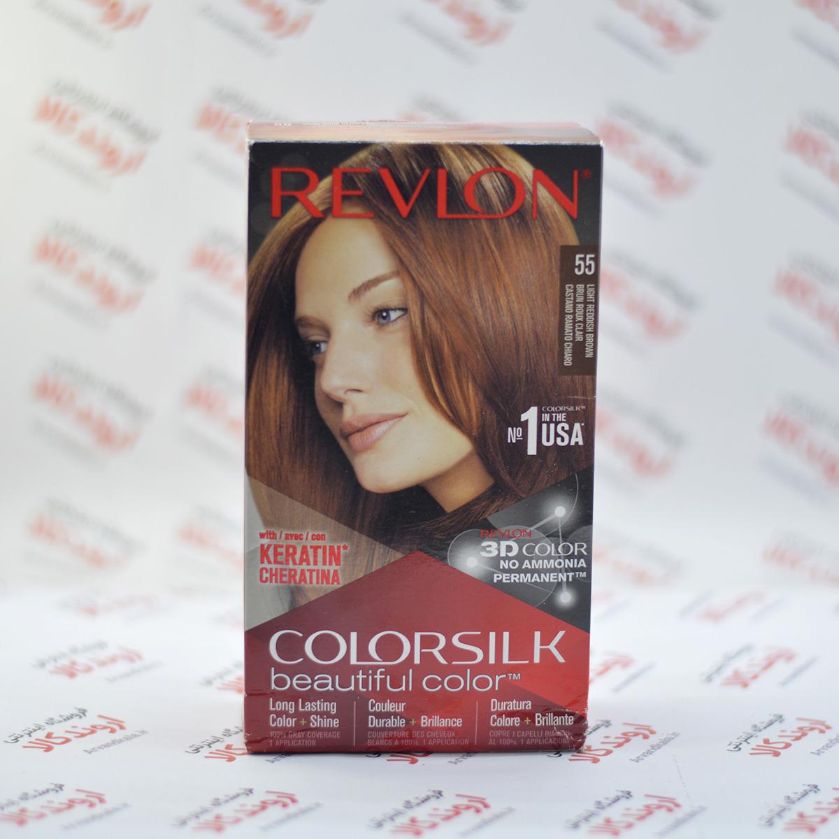 کیت رنگ مو رولون Revlon مدل Light Reddish Brown 55