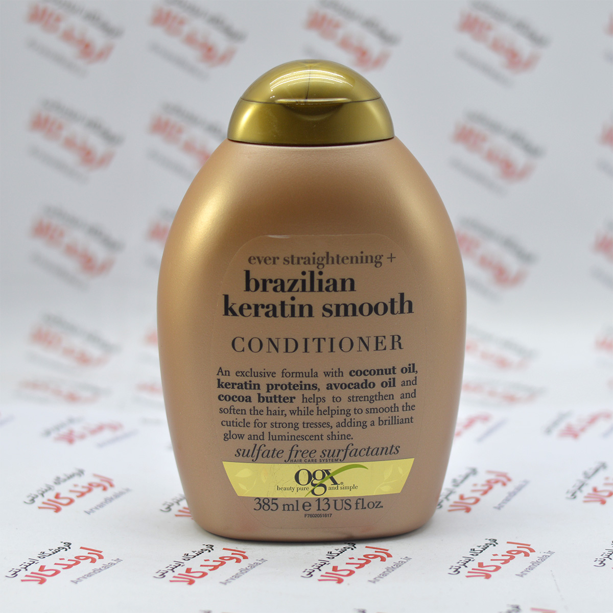 نرم کننده مو بدون سولفات او جی ایکس Ogx مدل Keratin Smooth