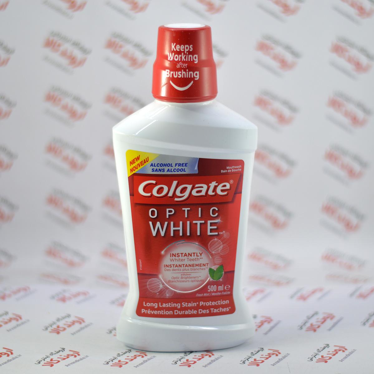 دهانشویه کلگیت Colgate مدل Optic White