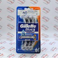 خودتراش ژیلت Gillette مدل (6 عددی) Blue3 COMFORT