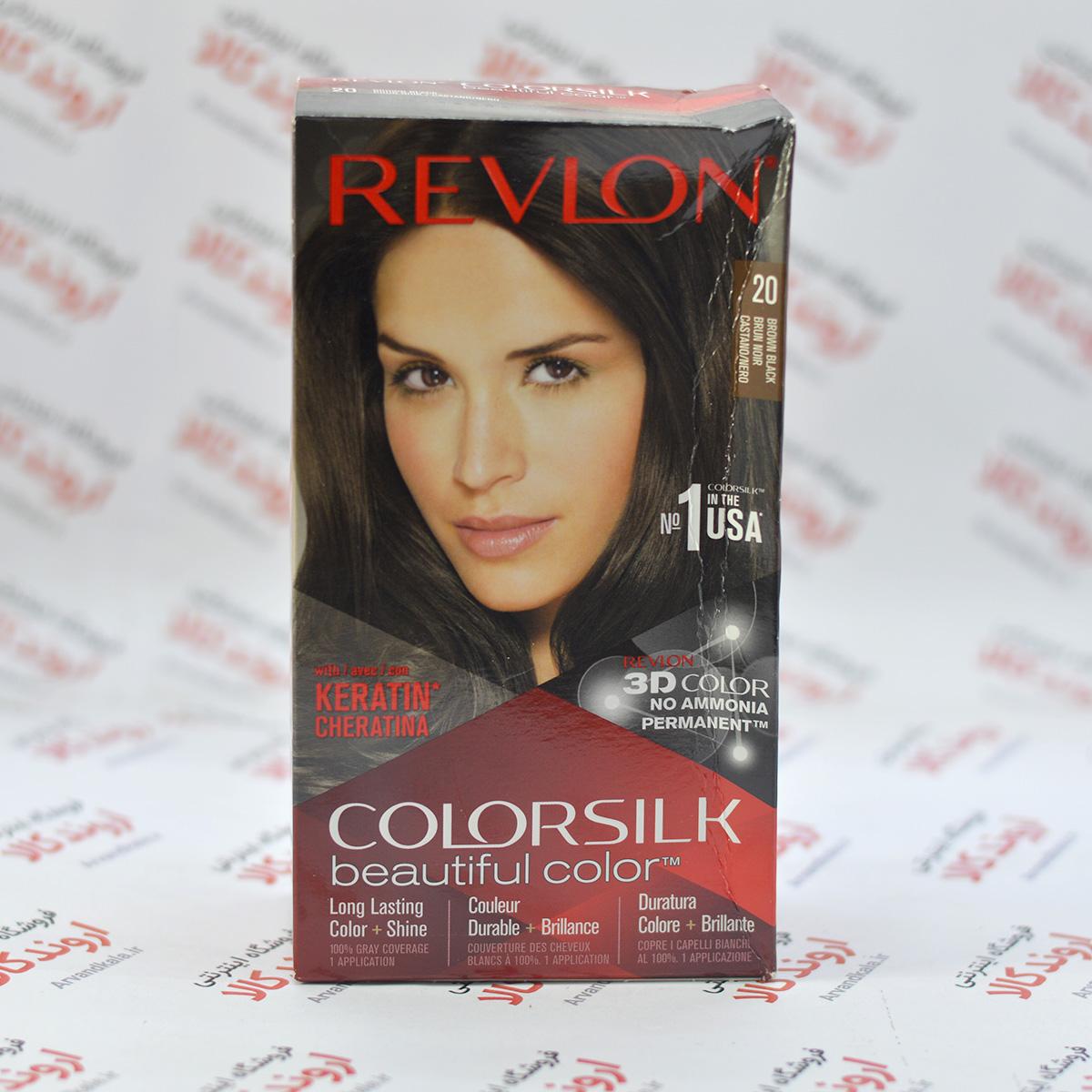 کیت رنگ مو رولون Revlon مدل 20 Brown Black