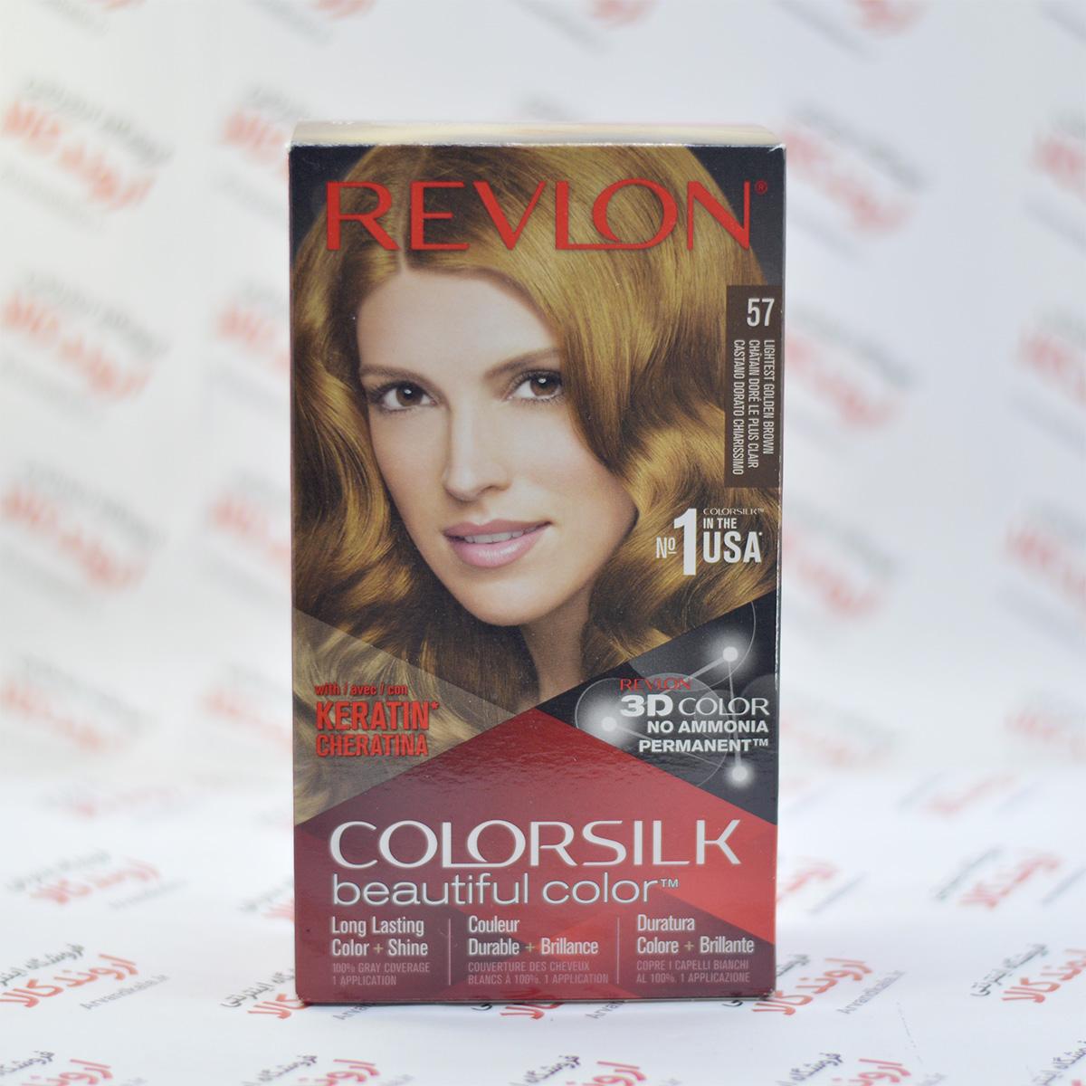 کیت رنگ مو رولون Revlon مدل Lightest Golden Brown 57