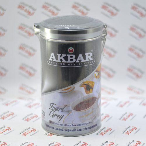 چای قوطی اکبر Akbar مدل Earl Grey